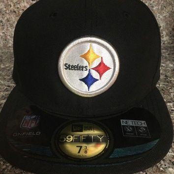 Pittsburgh Steelers NFL On Field New Era 59 Fifty Size 7 3 8 Fitted Hat a29454df046e