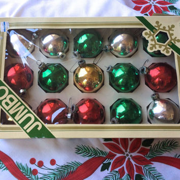 Vintage Christmas Ornaments Glass Bulbs In Original Box