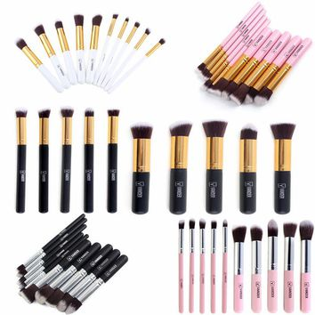 5x / 10x Professional Makeup Set Powder Foundation Eyeshadow Eyeliner Lip Concealer Cosmetic Brushes Kit Blending Pencil Kabuki
