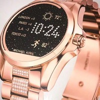 NEW MICHAEL KORS Access Rose Gold Glitz Bradshaw Touch Screen Smartwatch MKT5018
