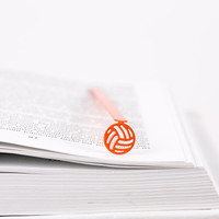 Bookmark Soccer Football  laser cut metal powder coated orange Stylish unique gift for book lover Free shipping.