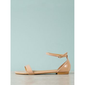 Patent Single Band Flat Sandal
