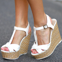 Little Bow Peep Wedges: Off White | Hope's