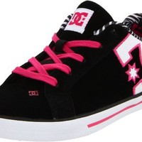 DC Women's Court Graffik Vulc SE Sneaker,Black/White/Crazy Pink,7 M US