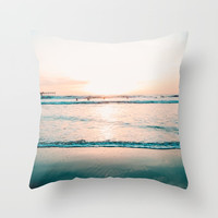 California Seaside Throw Pillow by SoCal Chic Photography
