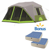 Walmart: Ozark Trail 9-Person Instant Cabin Tent with 2 Bonus Queen Airbed Mattresses ($70.89 Savings)