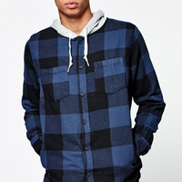 Modern Amusement Plaid Hooded Flannel Shirt at PacSun.com