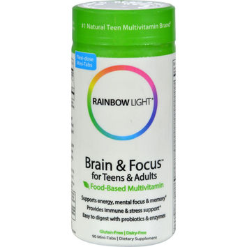 Rainbow Light Multivitamin - Brand And Focus - Teens Young Adults - 90 Tabs