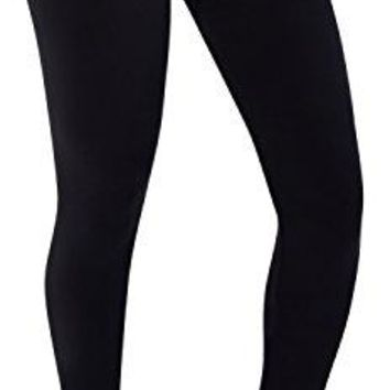 CLANEC Womens Soft Leggings With Fleece Stretch Full Length Leggings Regular and Plus Sizes