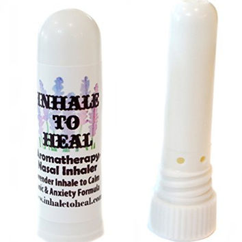 Inhale to Heal Lavender Inhale to Calm Panic & Anxiety Formula Aromatherapy Nasal Inhaler