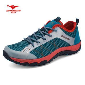 Baideng Brand Mesh New Men hiking shoes Summer style Cool Breathable outdoor climbing
