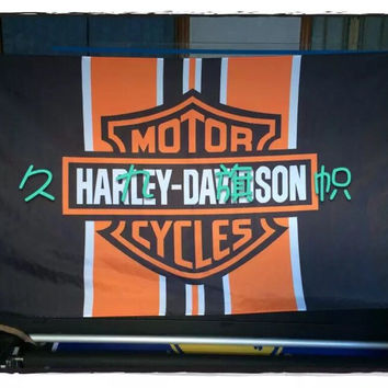 90*150CM Harley-Davidson motorcycle race flag decorative quality polyester free shipping