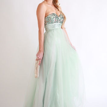 Sparkletini 5915 Sequin and Tulle Ball Gown Prom Dress