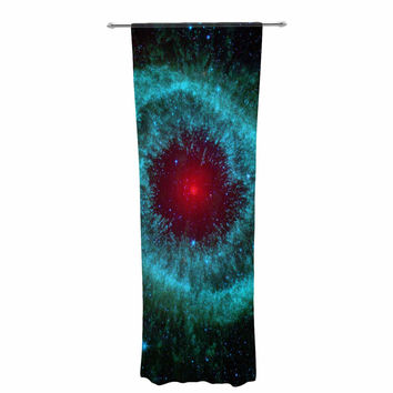 "Suzanne Carter ""Helix Nebula"" Black Celestial Decorative Sheer Curtain"