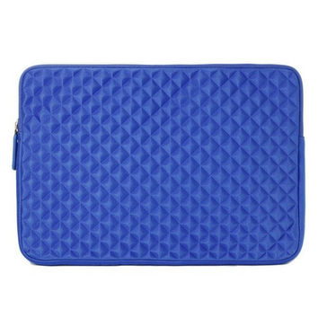 Laptop Sleeve EveCase 13.3'' ~ 14'' Laptop/ Chromebook/ Ultrabook Notebook PC Diamond Foam Splash & Shock Resistant Neoprene Sleeve Case Travel Bag Blue 13.3 - 14 inch