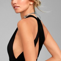 Hot-Cha-Cha Black Bodysuit