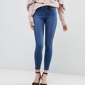 Vero Moda Super Skinny Jean With Ankle Zip at asos.com