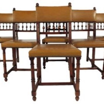 1890s French   Dining Chairs, S/6