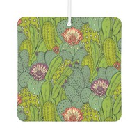 Cactus Flower Pattern Car Air Freshener