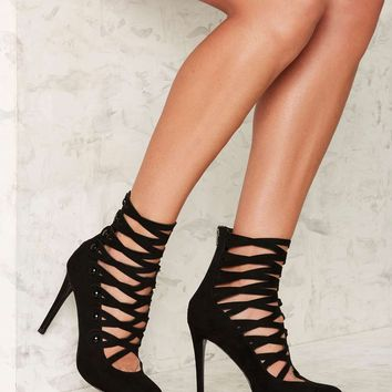Nasty Gal Just in Cage Stiletto Heel