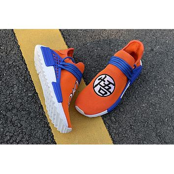 adidas x human race nmd dragonball evolution white orange blue men women sneaker