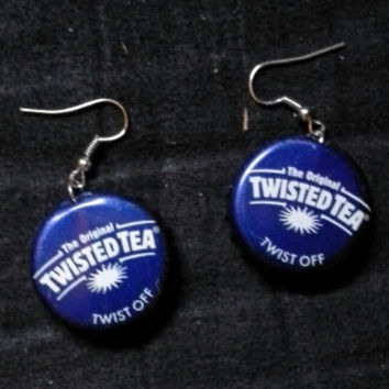 Handmade Rockabilly-Girl Beer Bottle Cap Earrings - More Pictures and Cap Options Coming Soon!