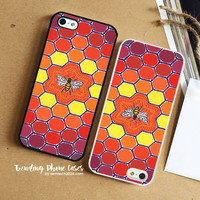 Bee Sacred Geometry  iPhone Case Cover for iPhone 6 6 Plus 5s 5 5c 4s 4 Case