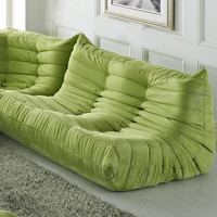 Modular Pillow Loveseat, Green
