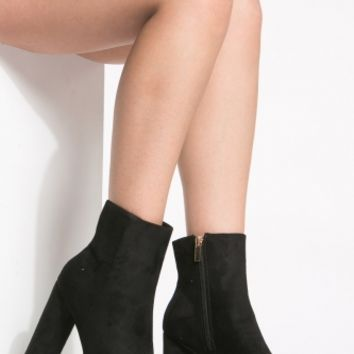 Black Faux Suede Platform Booties @ Cicihot. Booties spell style, so if you want to show what you're made of, pick up a pair. Have fun experimenting with all we have to offer!