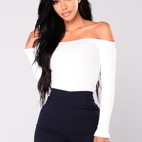 Overdrive Off Shoulder Top - White