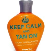 2014 Keep Calm And Tan On Facial Tan Maximizer Tanning Lotion - 3.4 oz.