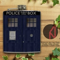 Doctor Who Tardis 6oz and 8oz Hip Flask