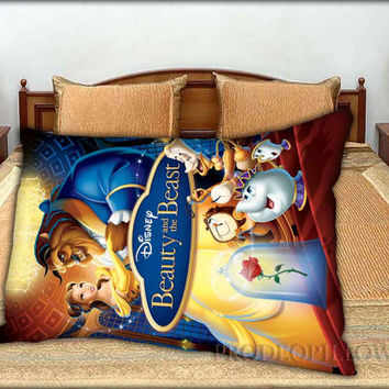 "Beauty and The Beast Disney Cartoon - 20 "" x 30 "" inch,Pillow Case and Pillow Cover."