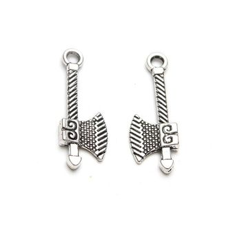 10pc/lot 26*10mm Ax Weapons Charms Antique Silver Tone for lucky charms bracelet & necklace diy jewelry accessories
