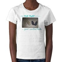 My Flip Flops Miss Your Combat Boots Tee Shirts from Zazzle.com