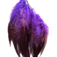 Wanderlust Purple Feather Ear Cuff by francisfrank on Etsy