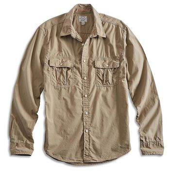 Lucky Brand Petaluma Military Shirt Mens - Mermaid