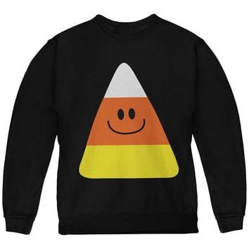 DCCK8UT Halloween Candy Corn Costume Black Youth Sweatshirt