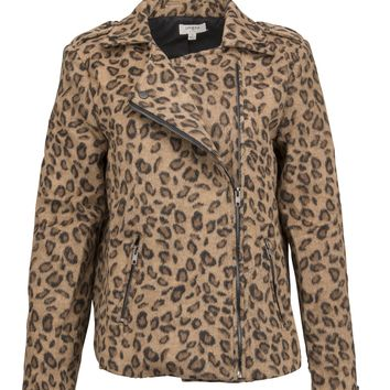Take a Walk on the Wild Side Leopard Moto Jacket