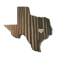 Texas Stainless Steel State Map Metal Wall Art Sculpture - State Sculpture - State Silhouette - State Sign