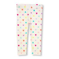Toddler Girls Mini Neon Heart Print Leggings | The Children's Place