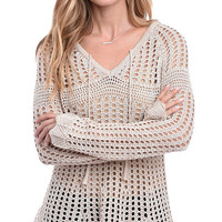 Cool Breeze Open Knit Pullover Sweater