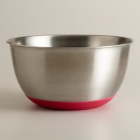 Red 8-Quart Stainless Steel Mixing Bowl - World Market