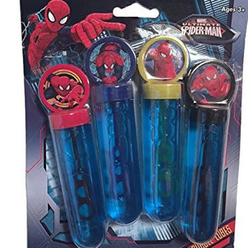 Marvel Ultimate Spider-Man 4 Bubble Tubes Wand Bubbler