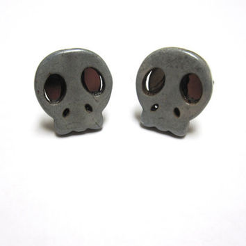 Sugar Skull Cufflinks Gray