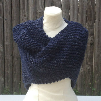 Outlander Inspired  Knit Shawl Handmade  Rustic Sontag Civil War Shawl