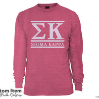 SK Sigma Kappa Custom Comfort Colors Classic Sorority Sweatshirt