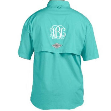 Vinyl monogrammed fishing shirt from cpmonogramming on etsy for Monogram fishing shirt
