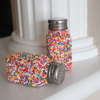 Decorative Salt and Pepper Shakers, Sprinkle Salt and Pepper Shakers, Candyland Party, Sprinkle Party, Birthday Party Table Setting, Gift