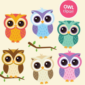 picture relating to Printable Owls identified as Owl clipart business hire, electronic animal clip artwork graphics - lovely printable vector owls kawaii fast down load